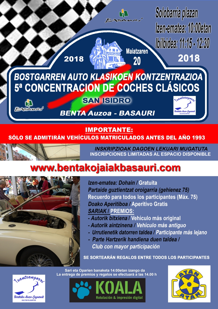 CARTEL COCHES 2018